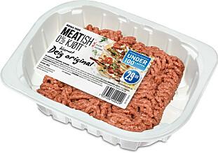 KJØTTFRI: Deig går inn i Middag under 100-lappen-konseptet og er til salgs i alle Rema 1000-butikker, mens burgere, boller, nuggets og biter lanseres i utvalgte butikker på Østlandet. Foto: Produsenten