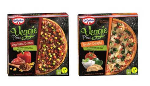 ERSTATNING: Vegetarpizza med kjøtterstatning. Foto: Produsenten