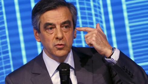 KANDIDAT: Skandalerammede Francois Fillon kandidat for det moderate høyrepartiet Les Republicains, var en tidlig favoritt. Han er nå svekket, men ikke ute av kampen. Foto: AP Photo/Francois Mori