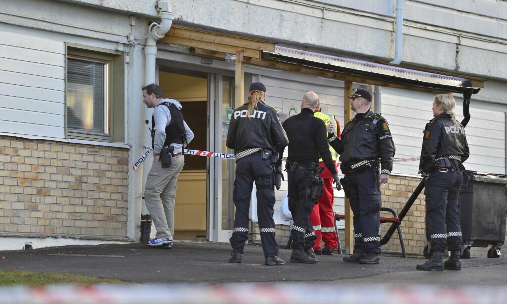 DREPT HER: Mannen i 50-åra, som nå er siktet for drap i fengselet, skjøt og drepte en mann på Oppsal i november 2014. Foto: Øistein Norum Monsen / Dagbladet