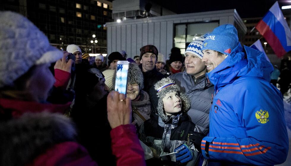 SMILTE IGJEN: Sergej Ustjugov var sint i to dager. Så fikk han gullet han ville, skulle og måtte ha. Det skjedde med uventet hjelp. Foto: Bjørn Langsem / Dagbladet