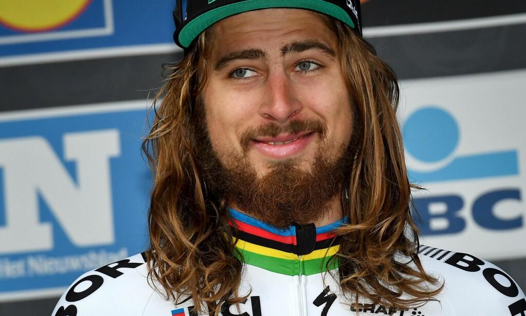 JESUS CHRIST SUPERSTAR: Peter Sagan er den store favoritten i lørdagens Milano-Sanremo. AFP PHOTO / BELGA / DAVID STOCKMAN /