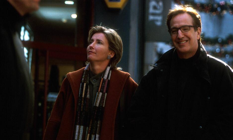 FOR TRIST: Skuespiller Emma Thompson blir ikke en del av Love Actually-oppfølgeren som har premiere i mars. Hun mener det blir for trist å fortsette etter Alan Rickmans død. Foto: NTB Scanpix.