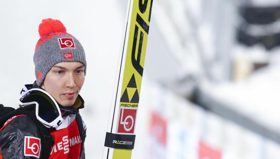 BESVIMTE FØR START: Johann Andre Forfang besvimte i kulissene i Lahti. Foto: Terje Pedersen / NTB scanpix