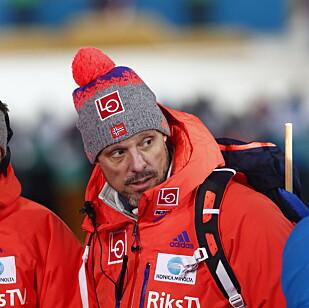 IKKE FORNØYD: Trener Alexander Stöckl. Foto: Terje Pedersen / NTB Scanpix