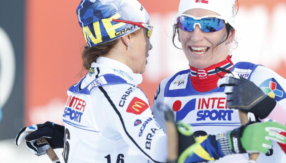 BEST AV DE RENE: Marit Bjørgen ble norsk VM-dronning med sine fire gull. Så er det kanskje på tide å stoppe den urettferdige kritikken mot henne og andre løpere som bruker astmamedisin. FOTO: Bjørn Langsem / Dagbladet.