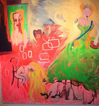 BER FOLK TOLKE BILDET SELV: Ari Behn sier verket «100 strokes before I go» er inspirert av hans eget liv. Foto: Sølve Hindhamar, Seoghør.no.