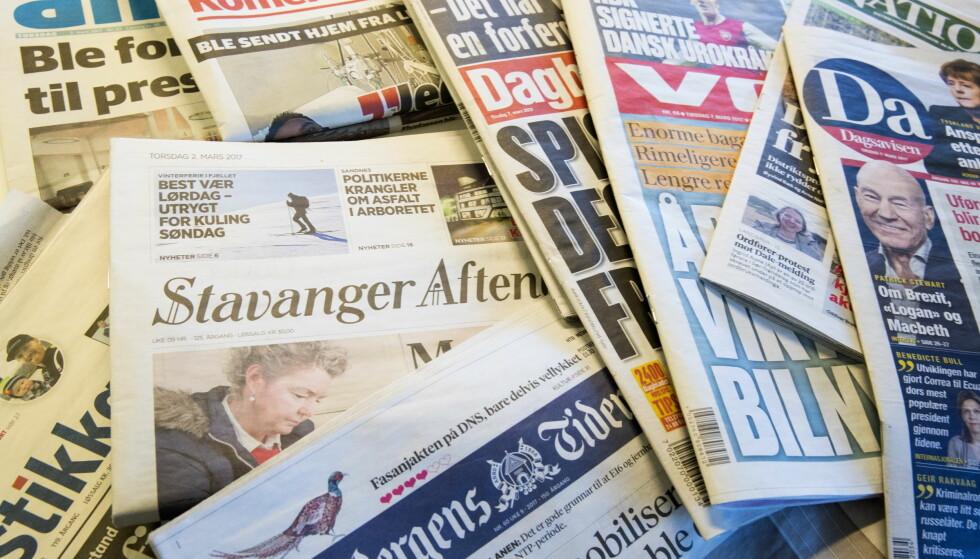 HASTER: Hva skal til for å bevare mediemangfoldet i Norge? Mediemangfoldsutvalget har en plan. Foto: Terje Bendiksby / NTB scanpix