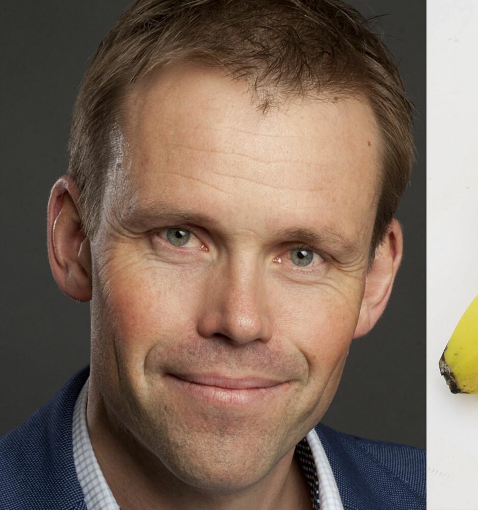 SOV GODT: Søvnekspert Harald Hrubos-Strøm unner seg gjerne en banen hvis han er sulten før leggetid. Foto: Sturlason og Aller arkiv