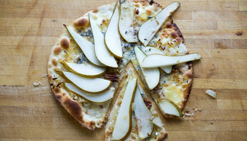 UTRADISJONELL: Dette er en pizza med pære og gorgonzola.