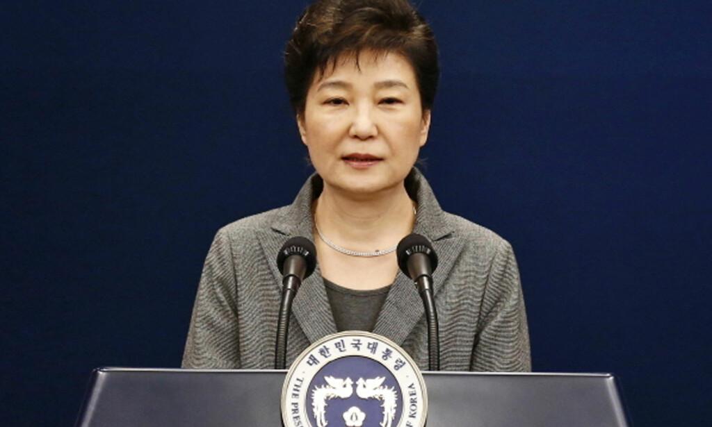 FERDIG: Park Geun-hye er avsatt av grunnlovsdomstolen i Sør-Korea. Foto: AP / NTB scanpix