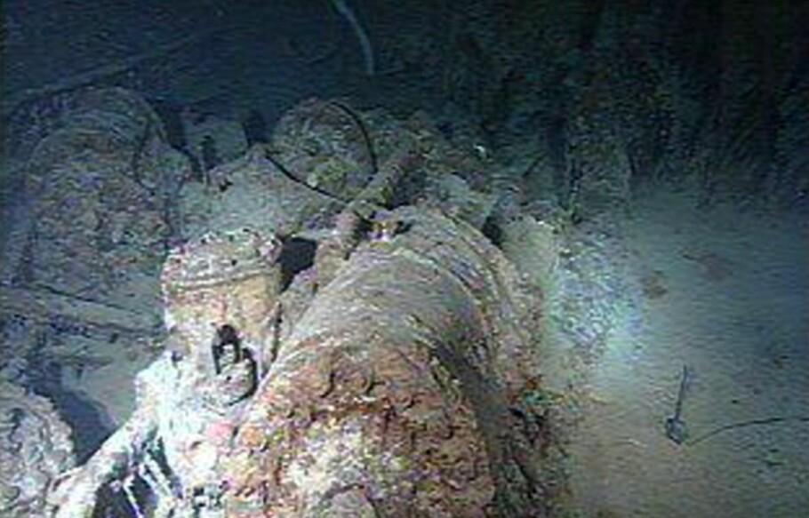 UNIKT: Verdens mest berømte skipsvrak, RMS «Titanic» var i usedvanlig god stand da det ble funnet i 1985. Siden har det blitt gjort en rekke undersøkelser av vraket. Forskeren Rebecca Mann ved Dalhousie University mener blant annet skipet kan være oppspist innen 2030. Dette bildet av vraket er tatt i 1998. Foto: AP Photo/Discovery Channel/RMS Titanic Inc/NTB scanpix