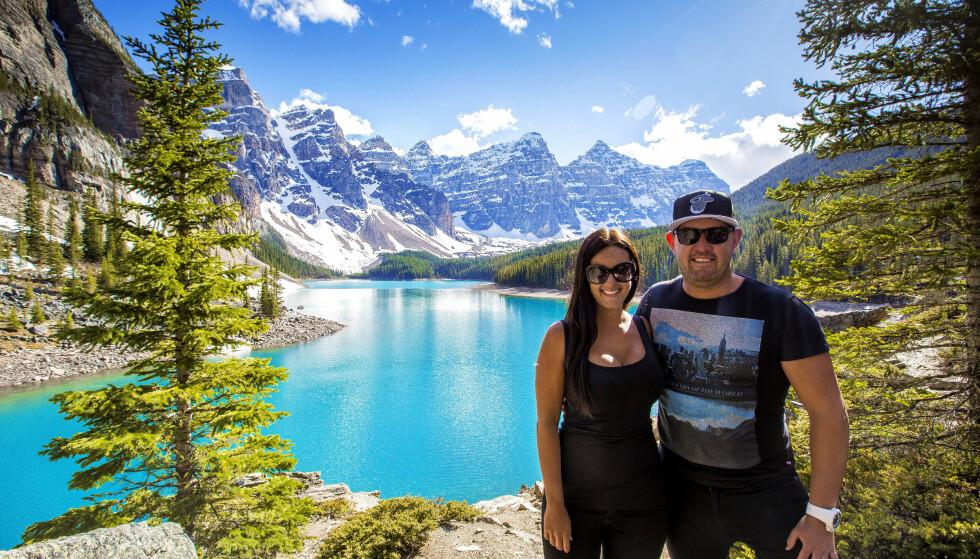 VERDEN RUNDT: Her er paret på tur i de Rocky Mountains i Canada. Landskapsfotografene setter Norge høyest. Foto: DK Photography