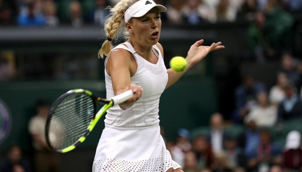GJEMMER SEG: Tennisstjernen Caroline Wozniacki innrømmer at hun fra tid til annen kler seg ut for å slippe folks oppmerksomhet.  Foto: NTB Scanpix