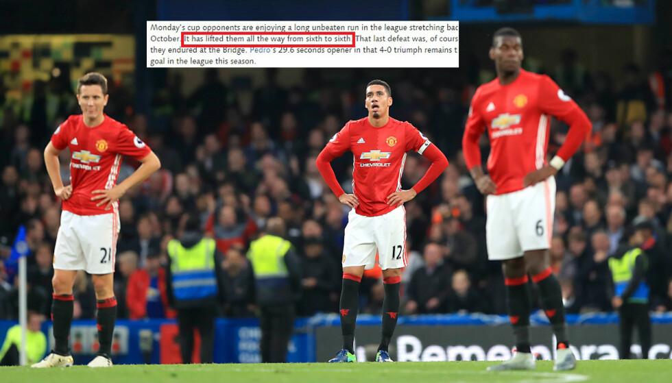 VENNLIG MOBBING: Chelsea har seinere fjernet deler av meldingen som ble lagt ut på klubbens hjemmesider. Foto. John Walton / PA / NTB Scanpix
