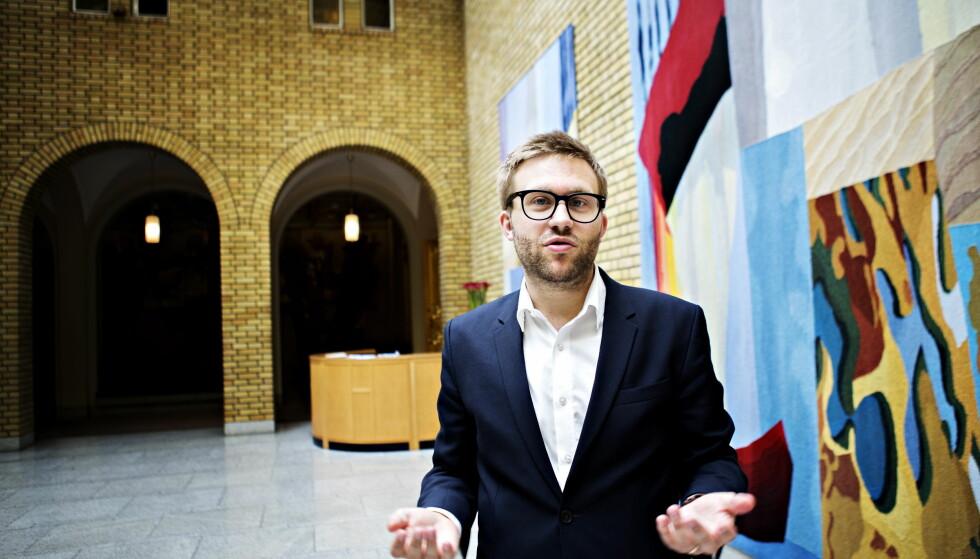 KRITISK: Stefan Heggelund (H) krever svar fra Arbeiderpartiet om ordningen med arbeidsavklaringspenger. Foto: Nina Hansen / Dagbladet