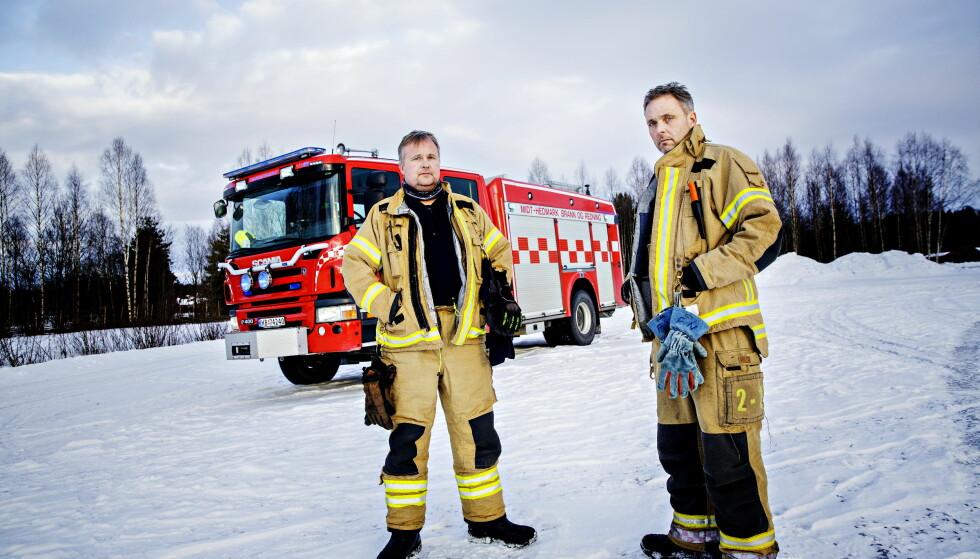 - UTESTENGES: Underbrannmester Petter Skjærmoen (til venstre) fikk hjelp av brannmester og hovedtillitsvalgt Frode Negård (til høyre) da han var i en konflikt med sjefen. Nå mener de at Negård utsettes for en hevnaksjon. Foto: NIna Hansen / Dagbladet