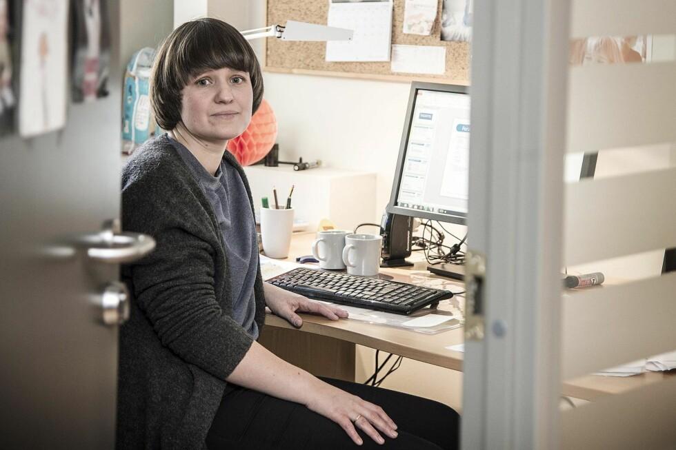 NY PENSJON: Arbeidsgiveren til Oda Sjøvoll skal skifte pensjonsordning for de ansatte. Hun ønsker seg hybridpensjon. Foto: Hans Arne Vedlog