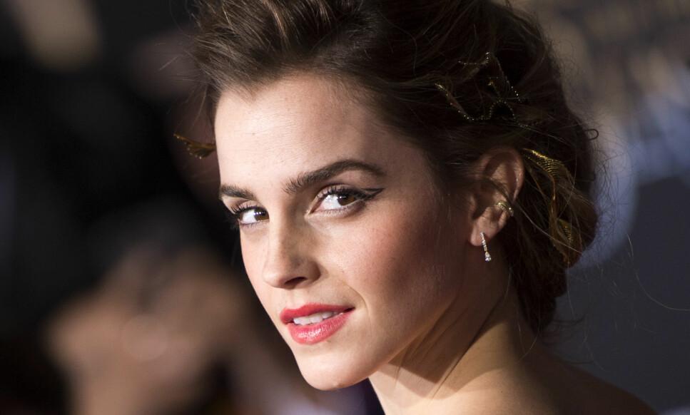 BLE HACKET: Tirsdag ble det kjent at en rekke lettkledde bilder av Emma Watson skal ha bli lekket. Foto: VALERIE MACON / NTB Scanpix