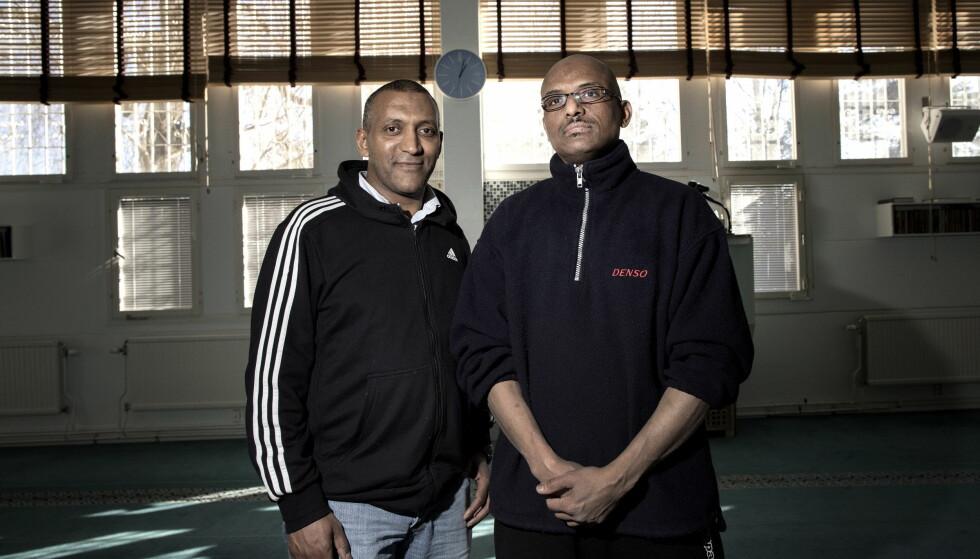 - IKKE NOK TILBUD: Omar Sayed og Abdelwahab Abdelkader mener ungdommene må få bedre tilbud i forstedene. Foto: Tomm W. Christiansen / Dagbladet