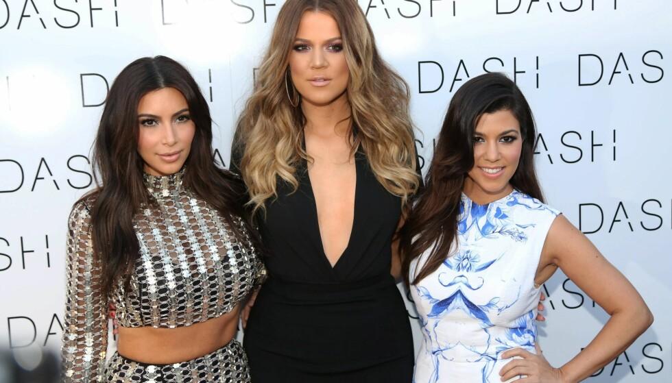 MILLIONÆRER: Kim, Khloe og Kourtney Kardashian tjener flere millioner per reklamesamarbeid på instagram. Foto: NTB Scanpix