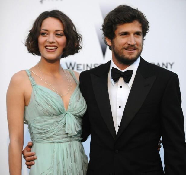 FRANSK STJERNEPAR: Marion og Guillaume har vært sammen siden 2007, etter å først ha blitt kjent ti år tidligere. Her er de på rød løper i 2009. Foto: NTB scanpix