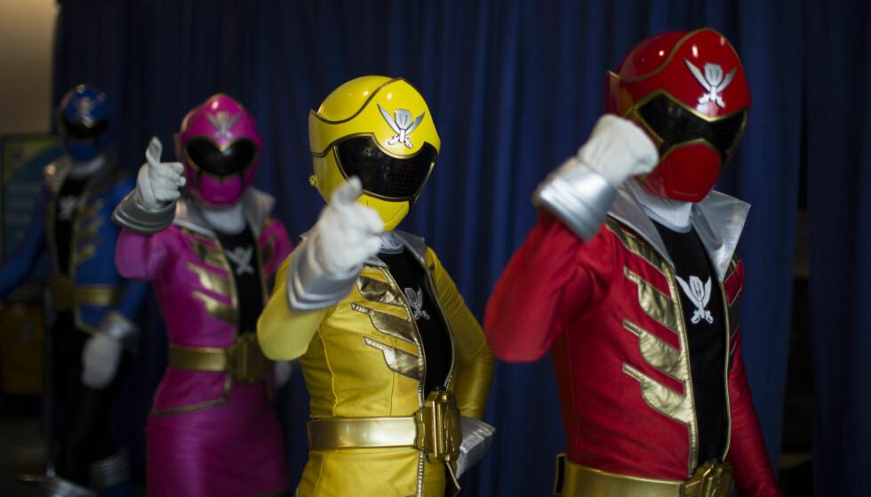 KULTSERIE: «Power Rangers» var en populær tv-serie på 1990-tallet, og siden er det kommet flere spin off-serier. Ricardo Medina, som spilte i to av disse, tilstod denne uka å ha drept romkameraten sin. Dette er et illustrasjonsfoto fra Comic-Con-konvensjonen i San Diego i 2014. Foto: Mario Anzuoni/Reuters/NTB scanpix