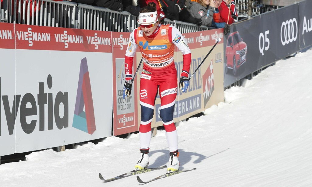 SPRINTDRONNING: Majken Caspersen Falla vant sprintcupen under minitouren i Canada fredag. Her er hun fra sprintrennet i Drammen. Foto: Lise Åserud / NTB scanpix
