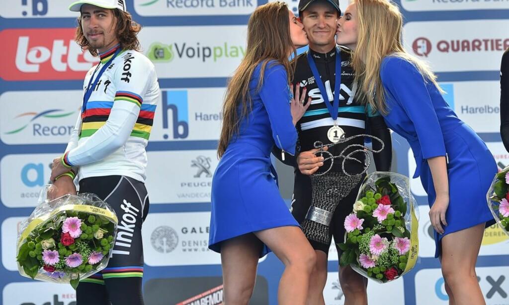 STJELER SHOWET: Selv når han ikke vinner er Sagan mannen som skaper overskriftene. FOTO Tim de Waele.