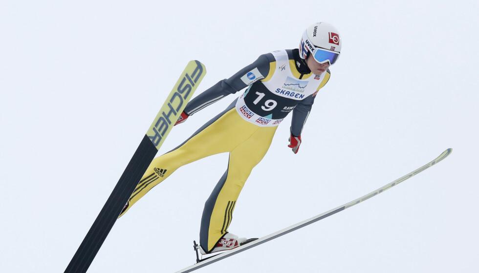 BESTE NORSKE: Johann Andre Forfang ble Norges beste i det aller siste Raw Air-rennet i Vikersund. Foto: Terje Bendiksby / NTB scanpix