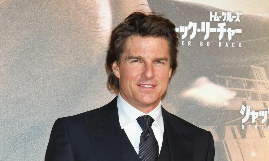MISSION IMPOSSIBLE: Tom Cruise kommer til Preikestolen for innspillingen av den nye Mission Impossible-filmen. Foto: Scanpix