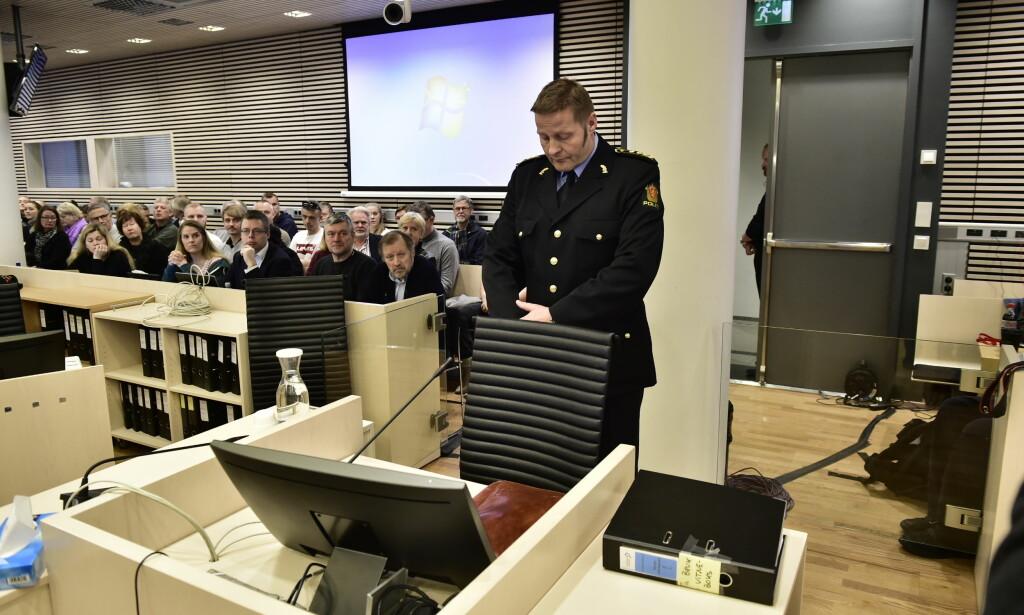 VITNER: Einar Aas, sjef ved Seksjon for organisert kriminalitet i Oslo politidistrikt vitner i Eirik Jensen - rettsaken Foto: Lars Eivind Bones / Dagbladet