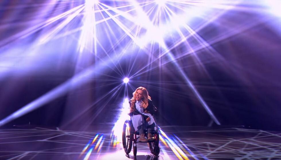 FÅR IKKE DELTA: Russiske Yuliya Samoylova slipper ikke inn i MGP-vertslandet Ukraina. Foto: Eurovision Song Contest