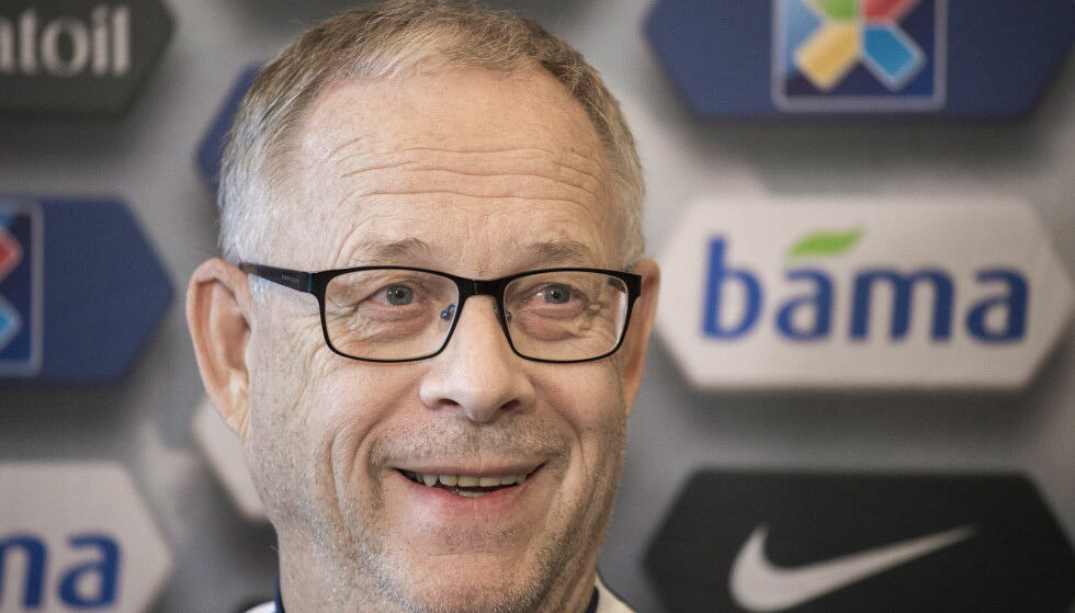 KAMPKLAR: Norges landslagssjef Lars Lagerbäck møtte pressen i ettermiddag, før kamp søndag mot Nord-Irland.  Foto : Hans Arne Vedlog  / Dagbladet   .