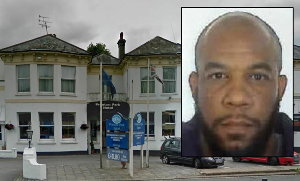 OVERNATTET: Natta før terrorangrepet i London bodde terroristen Khalid Masood (52) på dette hotellet i Brighton. Foto: Google / London-politiet