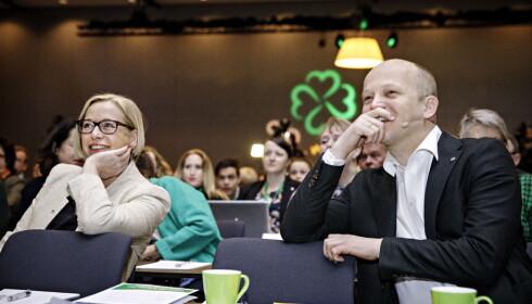 UENIGE: Få stridssaker på Sp-landsmøtet, men i studiefinansiering skiller Trygve Slagsvold Vedum og Marit Arnstad lag. Foto: Nina Hansen / DAGBLADET