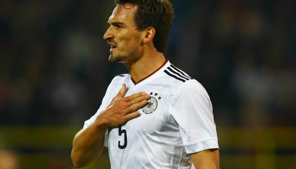 KRITISK: Til tross for Tysklands utklassingsseier i går, er ikke Mats Hummels fornøyd. Foto: NTB Scanpix