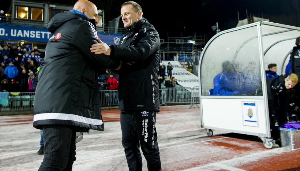 FORSTERKER: Jerv-trener Arne Sandstø henter Babajide David fra Midtjylland på lån fram til slutten av juni. Foto: Vegard Wivestad Grøtt / NTB scanpix