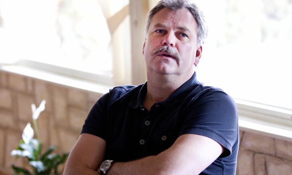 FYRER SEG OPP: TV 2-kommentator Harald Bredeli blir forbanna når sporten blir brakt i vanry. Her fra EM i Serbia i 2012. Foto: Gorm Kallestad / Scanpix