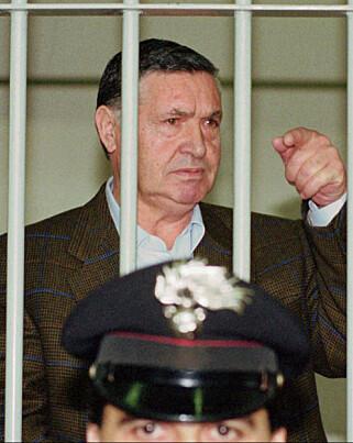 GUDFAREN: Salvatore «Toto» Riina var Cosa Nostras øverste leder da Falcone og Borsellini ble drept. Han ble arrestert i 1993 og dømt for å ha bestilt drapene. Riina knyttes til over 100 mord, og er dømt til tre livstidsdommer. Foto: AP / NTB Scanpix