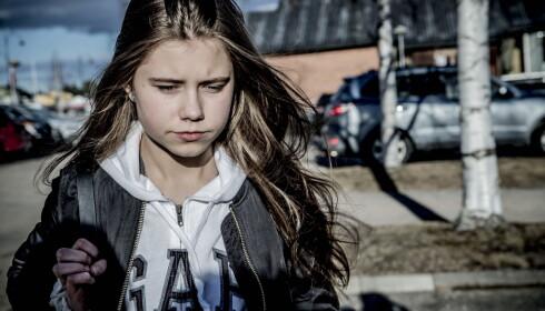 SJOKKERT: Inntrykkene fra ulykken har gjort dypt inntrykk på Ida. Foto: Thomas Rasmus Skaug / Dagbladet