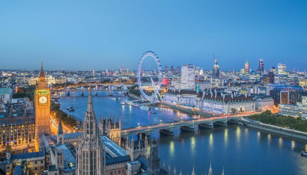 <strong>MEST POPULÆR:</strong> London er den europeiske storbyen vi nordmenn besøker hyppigst. Foto: Shutterstock / NTB Scanpix&nbsp;