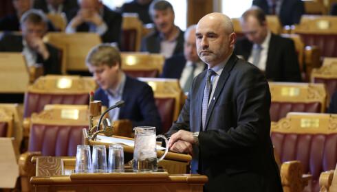 TILBAKEVISER: Dag Terje Andersen (Ap) tilbakeviser kritikken fra Høyre om AAP-spørsmålet. Foto: Vidar Ruud / NTB scanpix