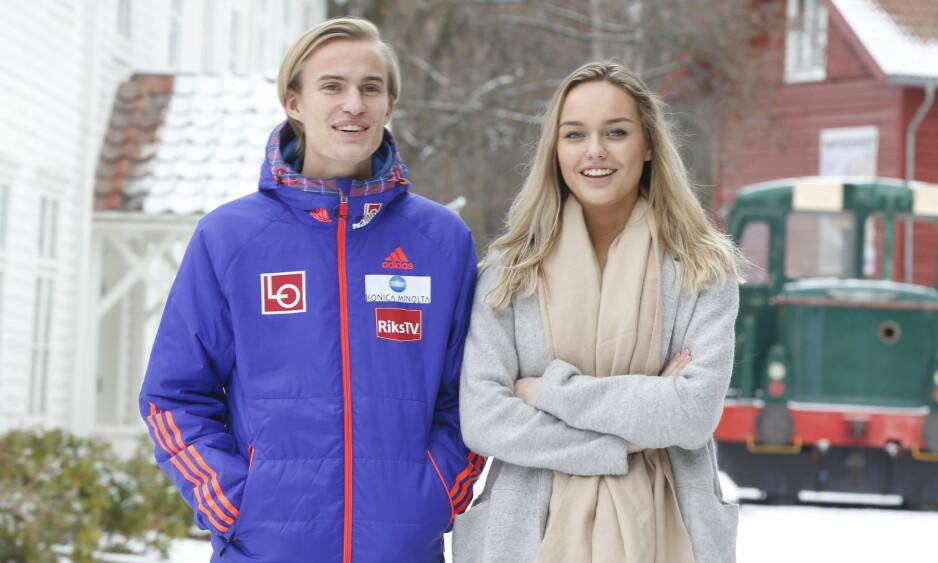 BLIR SAMBOERE: Daniel-André Tande og kjæresten Anja Nymoen Søberg. Foto: Terje Pedersen / NTB Scanpix