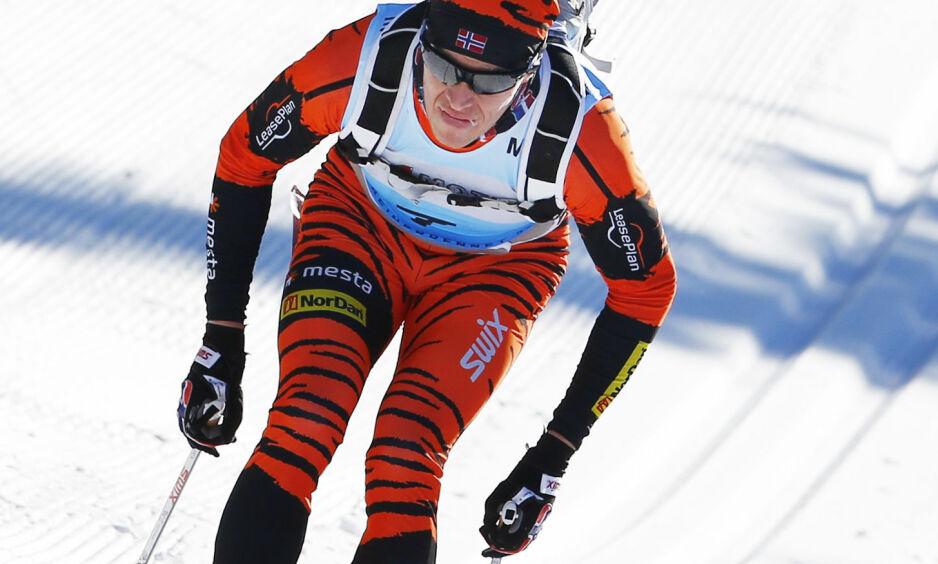 VANT: Ingen klarte å holde følge med Petter Eliassen da han satte opp farten mot slutten av den 67 kilometer lange Ski Classics-finalen mellom Ylläs og Levi. .Foto: Heiko Junge / NTB scanpix