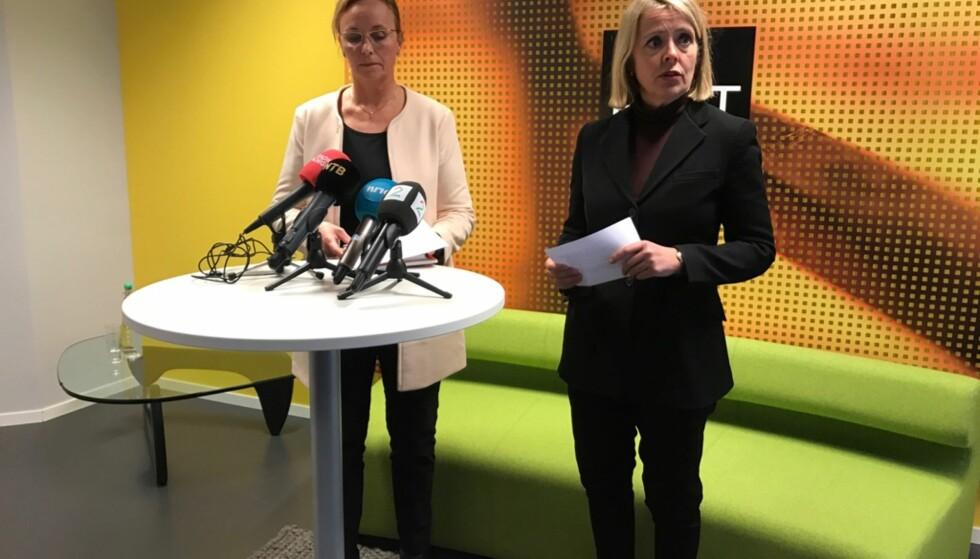 HAR SIKTET 17-ÅRING: Signe Aalling, politiadvokat, og PST-sjef Benedicte Bjørnland. Foto: Ralf Lofstad / Dagbladet