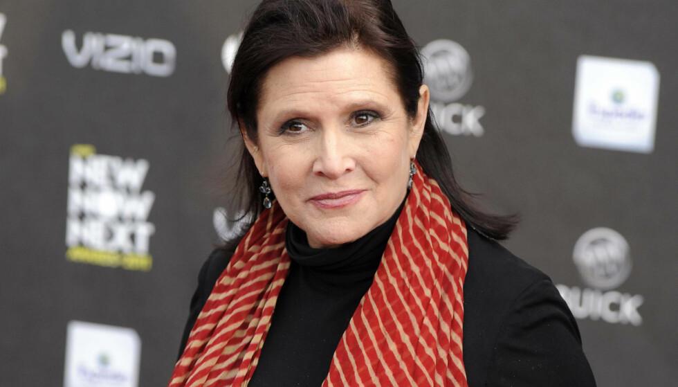 GIKK BORT I FJOR: Carrie Fisher døde i romjula i fjor etter et illebefinnende få dager før. Likevel blir hun å se i to nye «Star Wars»-filmer. Foto: AP Photo/Chris Pizzello