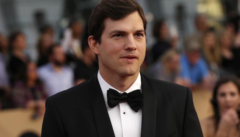 VANT PRIS: Ashton Kutcher vant pris i helga for å ha vist god karakter og sterke lederevner. Det er imidlertid takketalen hans som har fått størst oppmerksomhet. Foto: REUTERS/Mario Anzuoni, NTB Scanpix