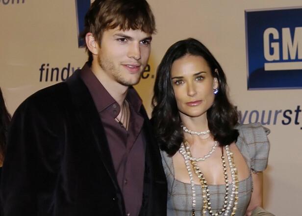 KJENT PAR: Ashton Kutcher og Demi Moore var på mange måter et av Hollywoods mektigste superpar. Forholdet led likevel som følge av flere spekulasjoner, deriblant at Kutcher skal ha vært utro. I en tale adresserte han ryktene i helga. Foto: NTB Scanpix