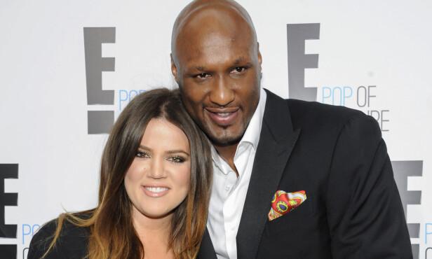 DEN GANG DA: Khloé Kardashian og Lamar Odom giftet seg i 2009. Etter fire år tok ekteparet ut separasjon. Foto: AP / NTB Scanpix